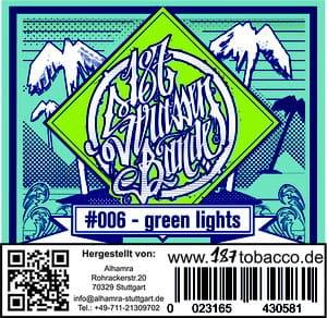 187 Strassenbande Tabak Green Lights 200 g