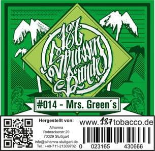 187 Strassenbande Tabak Mrs- Greens 200 g