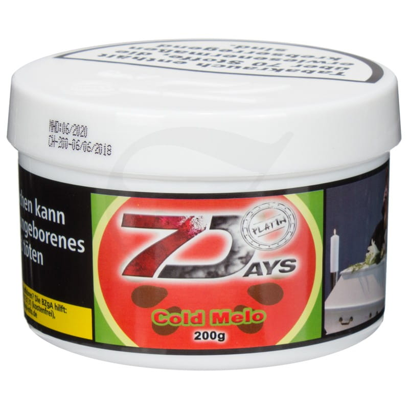 7 Days Platin Tabak - Cold Melo 200 g