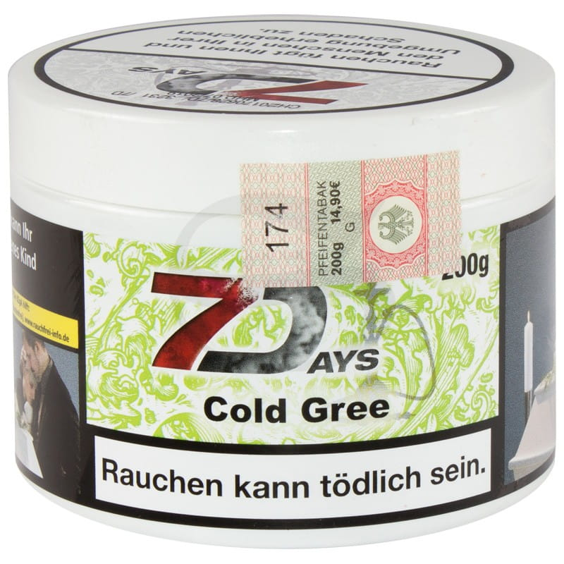 7 Days Tabak - Cold Gree 200 g Classic