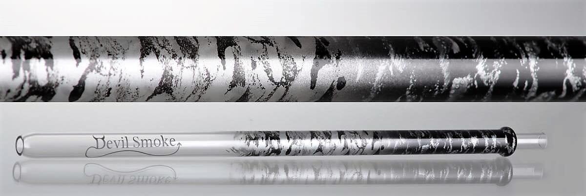 Devil Smoke Mundstück - Crossed Double Snake Silber Schwarz