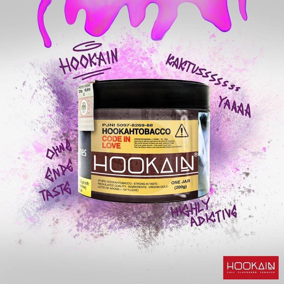 Hookain Tabak - Code in Love 200 g