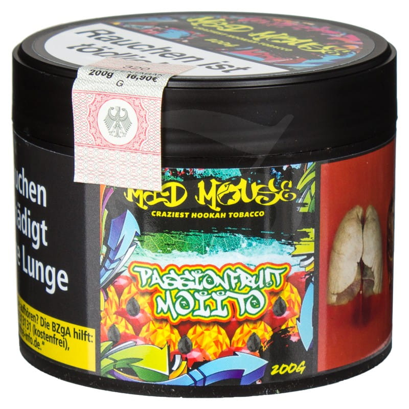 Mad Mouse Tabak - PassionFrut Moiito 200 g