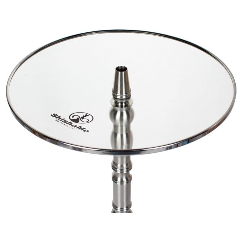 Shisha Glasteller 26 cm - Metallrand