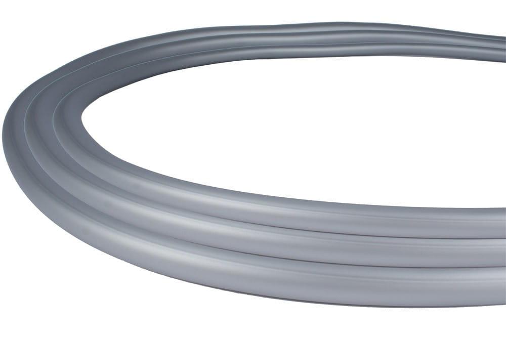 Silikonschlauch Soft-Touch Matt - Silber