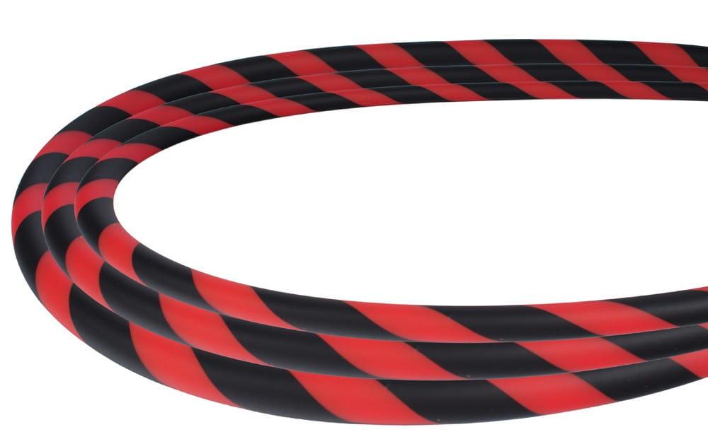 Silikonschlauch Soft-Touch - Schwarz Rot Stripe