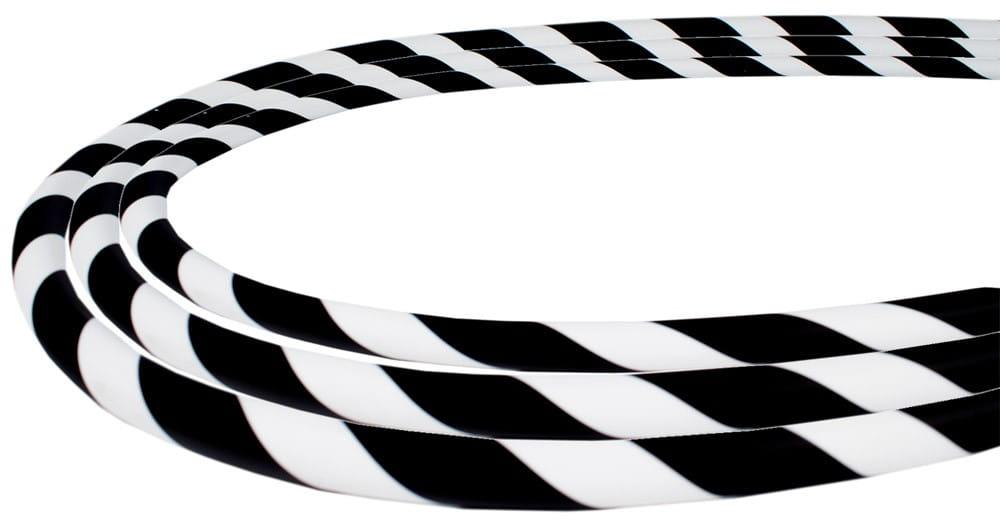 Silikonschlauch Soft-Touch - Schwarz Weiss Stripes